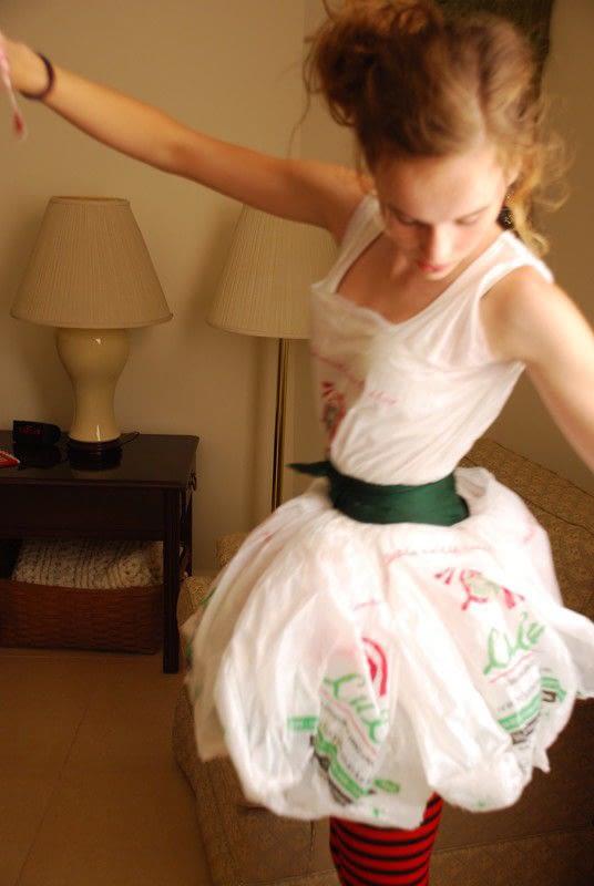 Dress O Plastic Bags  A Plastic Bag Dress  Dressmaking