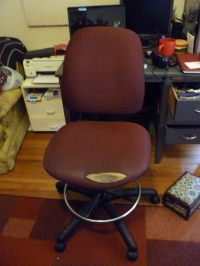 Ugly Office Chair Made Chic  A Work Chair  Upholstery on