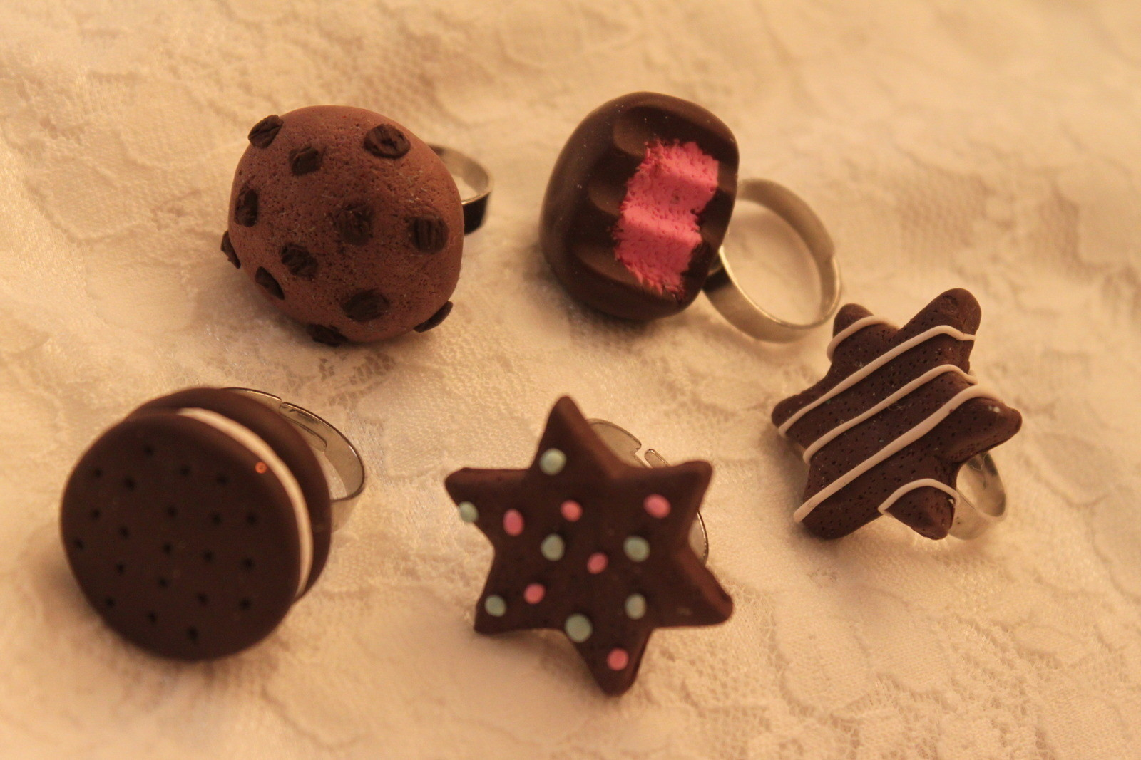 Delicious Looking Fimo Clay Rings A Clay Ring Jewelry Making And Molding On Cut Out Keep