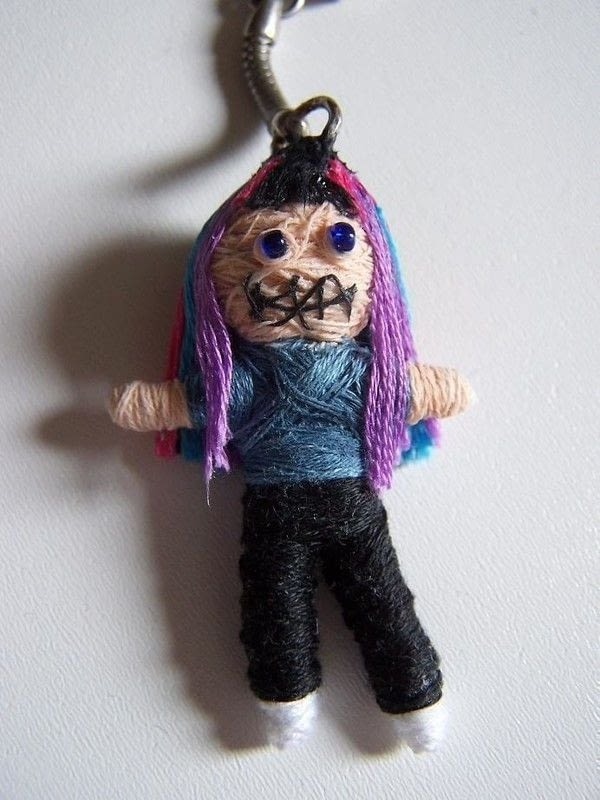 Voodoo Doll Keychain  How To Sew A Fabric Character Charm  Decorating Art and Needlework on