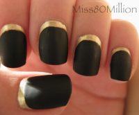 Ruffian Style Nail Art Reverse French Nail  How To Paint ...