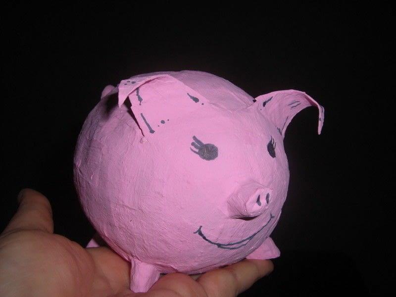 Paper Mache Piggy Bank  A Money Bank  Papiermch on