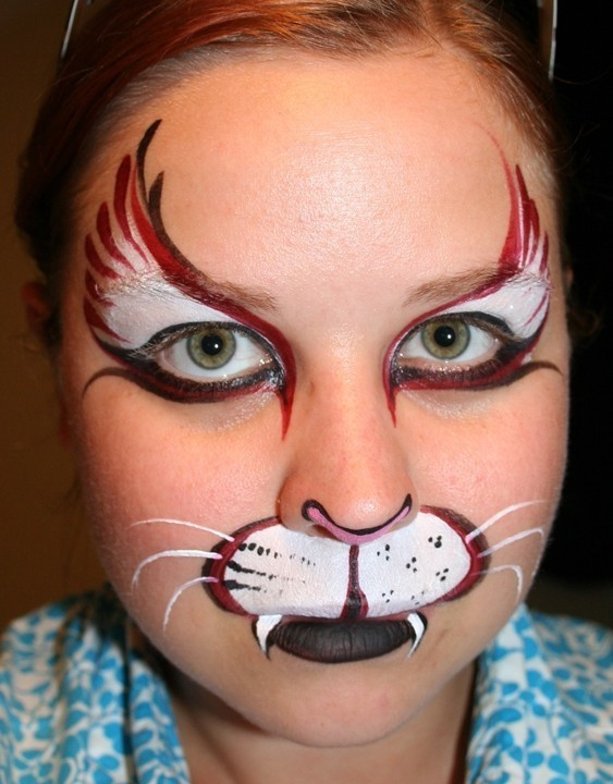 Step By Step Cat Face Paint : paint, Halloween, Makeup, Create, Painting, MakeUp, Techniques