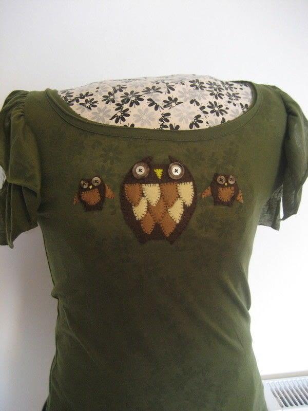 Owl Applique T Shirt  How To Make An Applique T Shirt