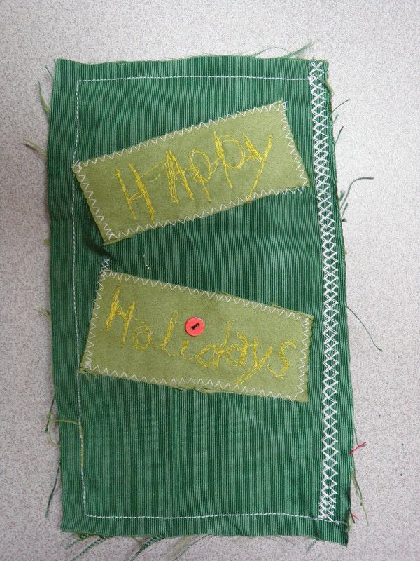 Fabric Scrap Christmas Card An Applique Card