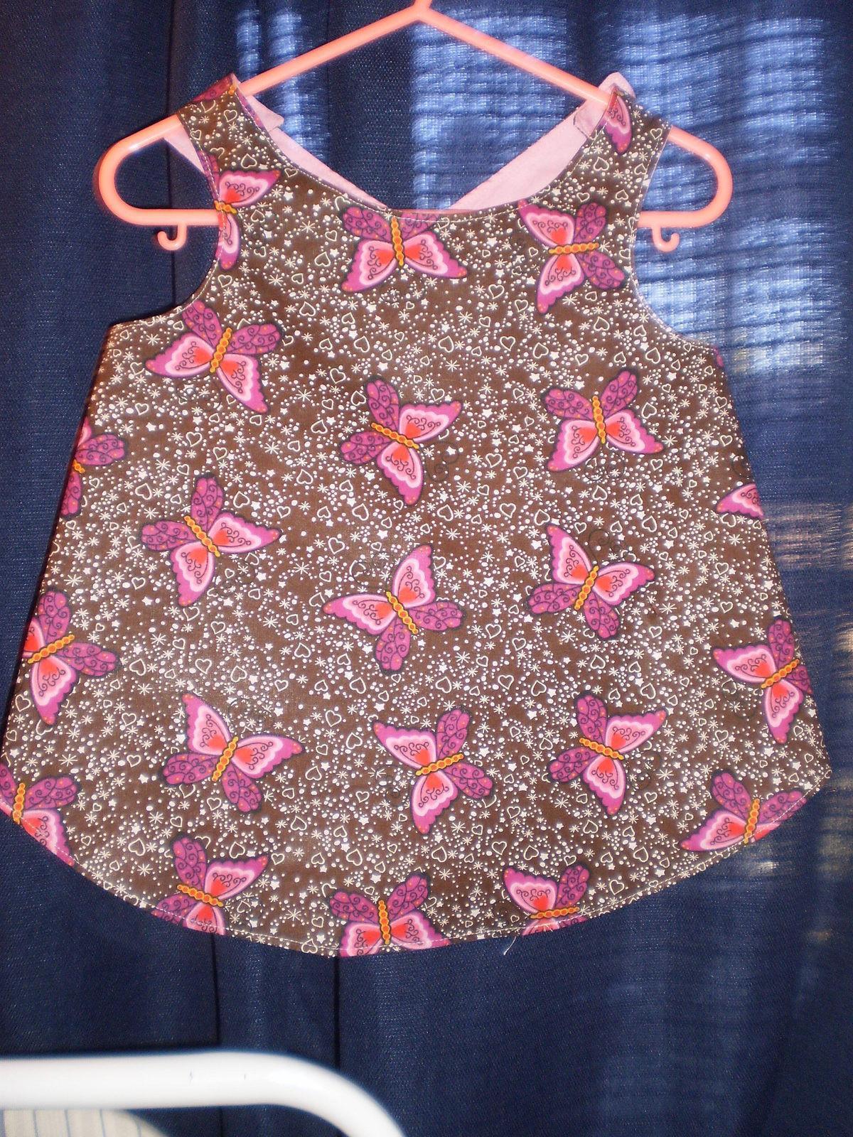 Babys Apron Dress  A Baby Dress  Dressmaking on Cut Out