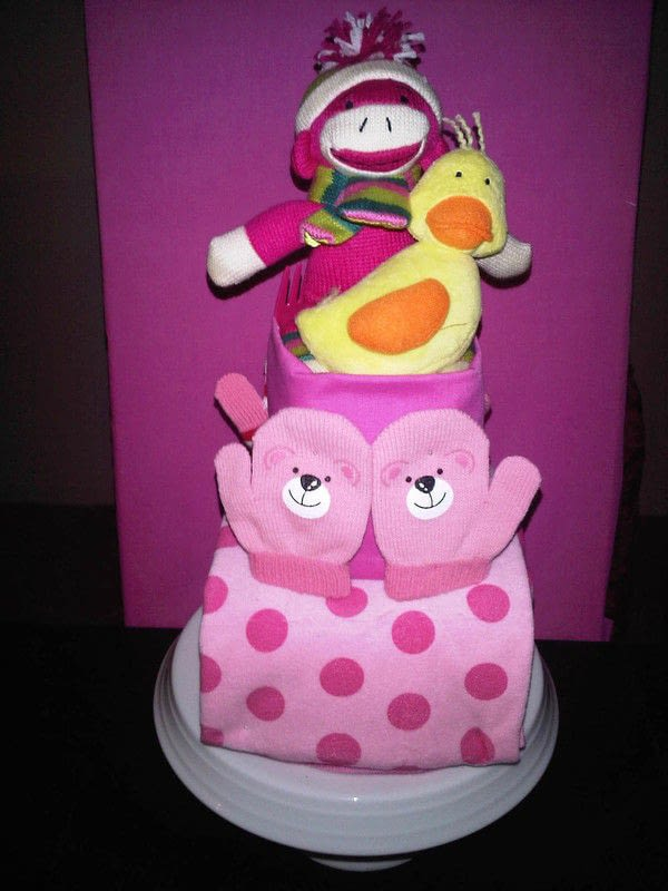 Diaper Cake Baby Girl  A Diaper Cakes  Decorating on Cut