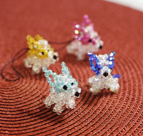 Beaded Dog  A Beaded Animal  Beadwork and Beadwork on