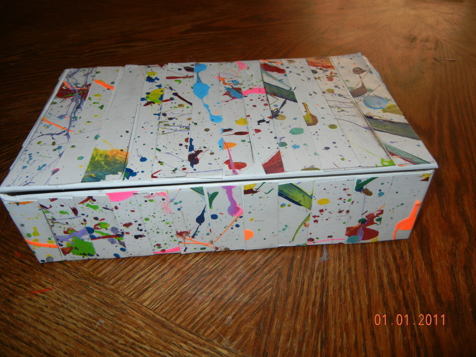 Splatter Paint Gift Boxes A Painted Box Decorating On