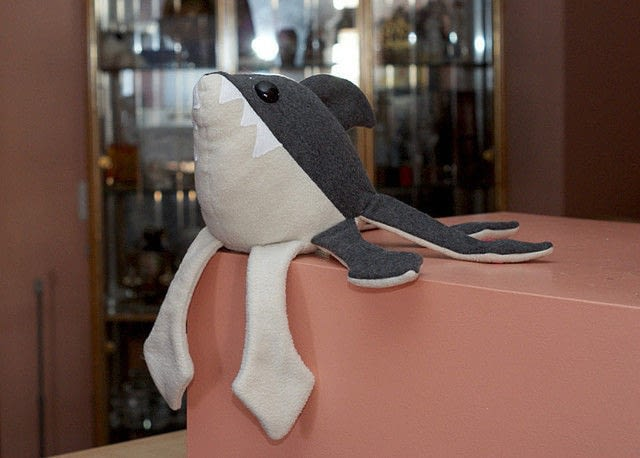 Sharktopus Plush 183 A Shark Plushie 183 Sewing On Cut Out