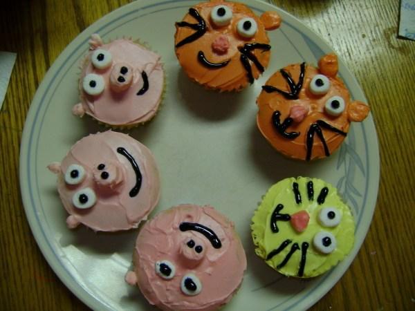 Animal Cupcakes Decorate Cake Food