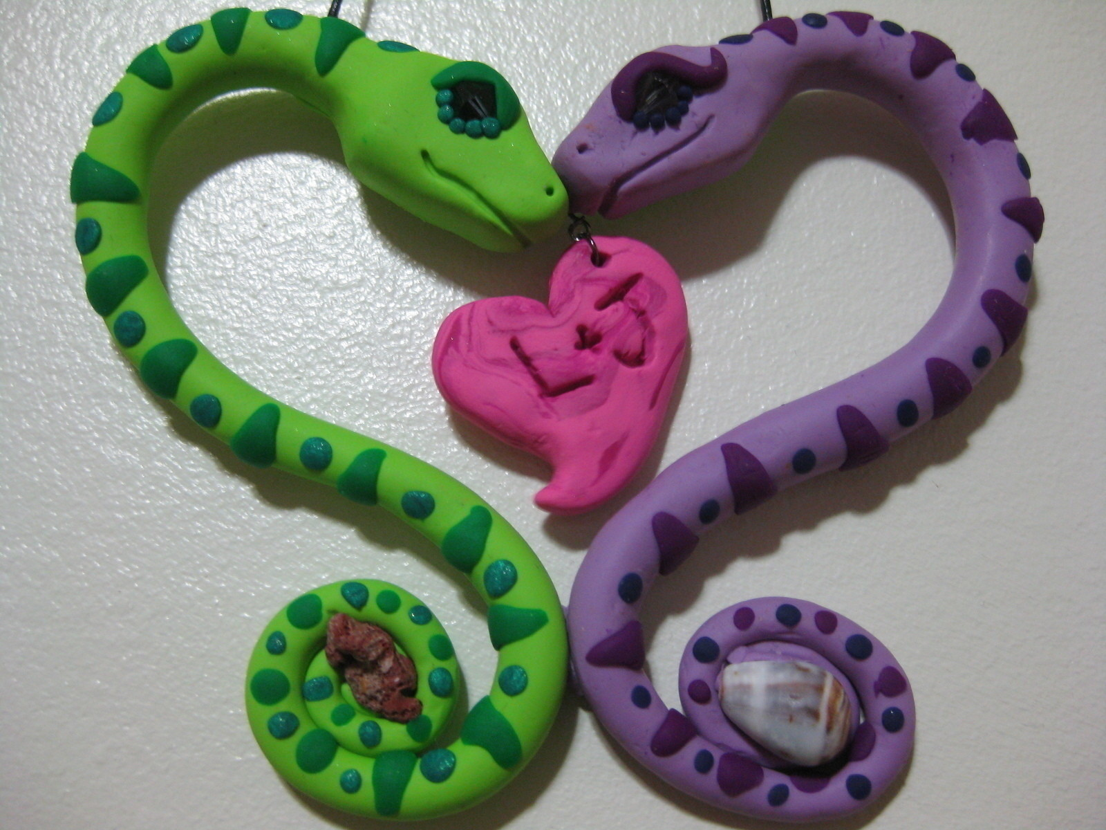 Snake Lovers Valentines A Clay Animal Molding On Cut