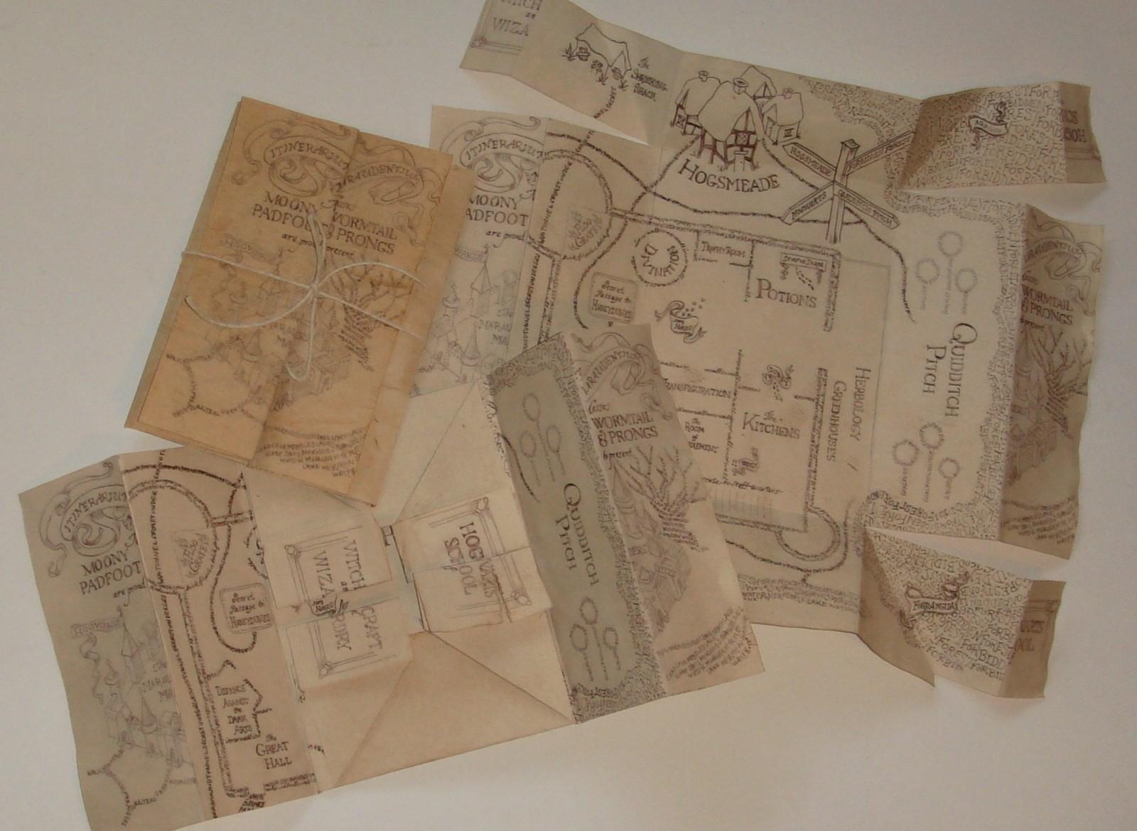Marauders Map A Piece Of Map Art Creation By Ciara