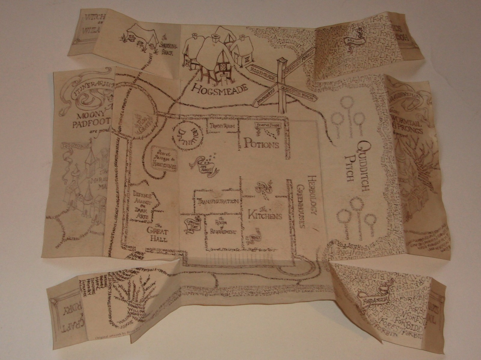 Animal Bedroom Wallpaper Marauder S Map 183 A Piece Of Map Art 183 Creation By Ciara