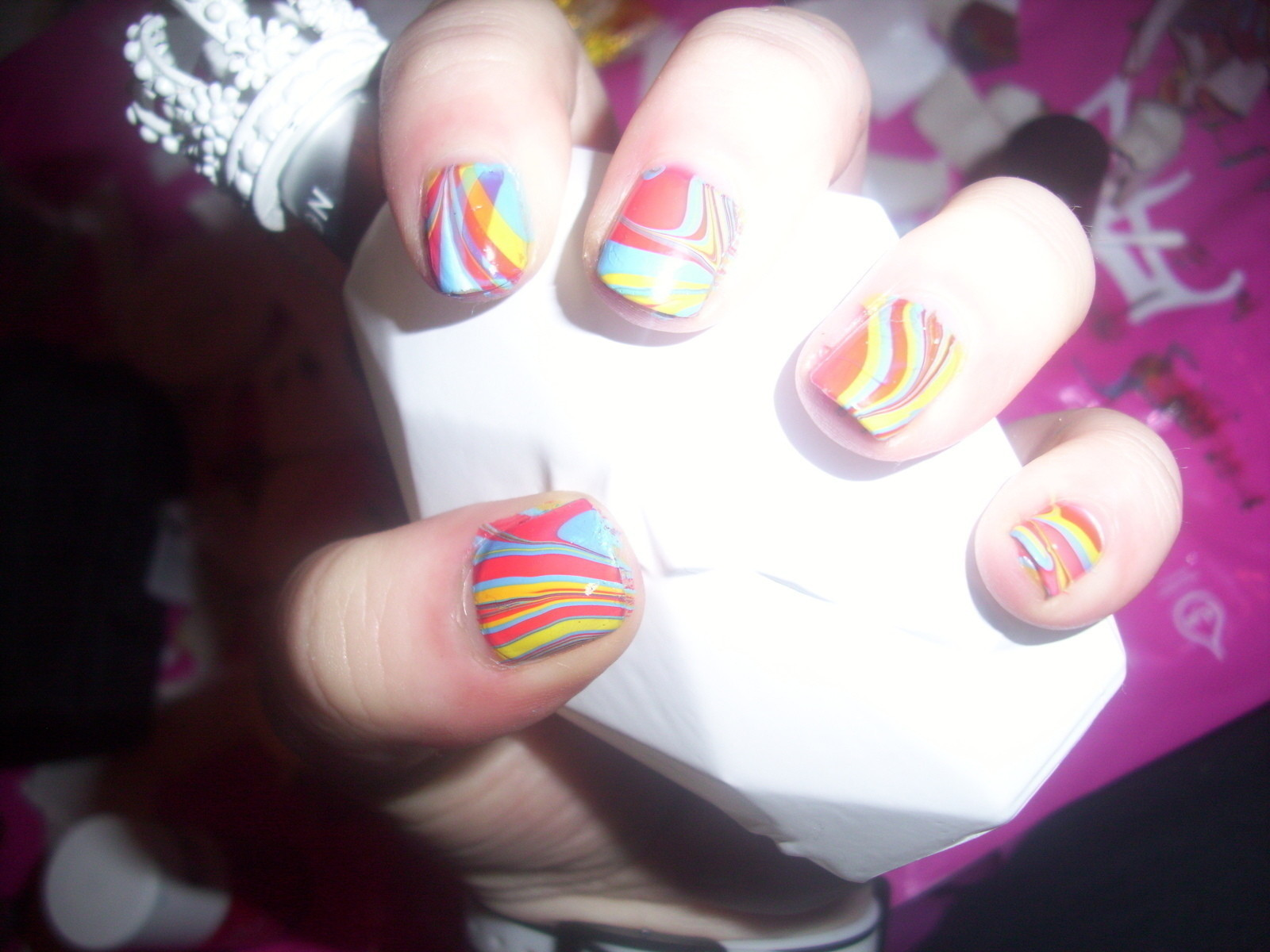 Swirl Nail Art Using Water How To Paint Patterned Painting And On Cut Out Keep