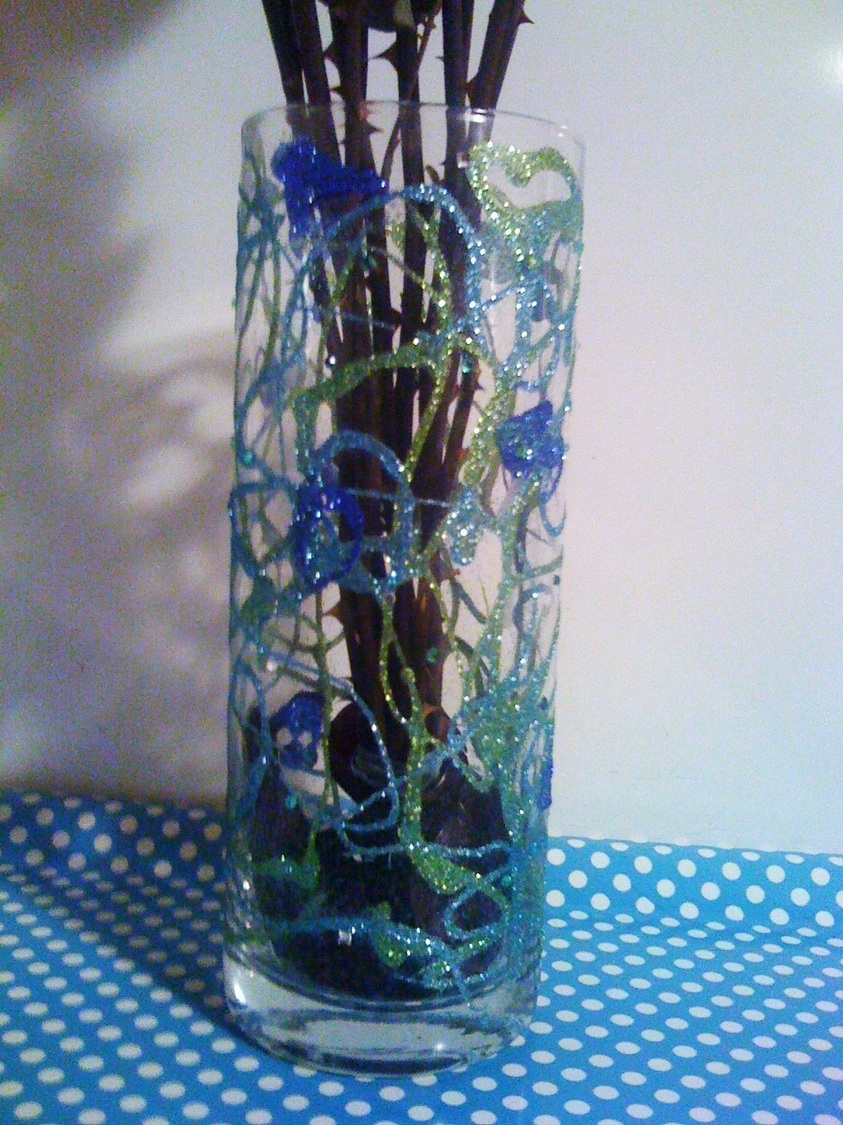 Diy Glitter Vase  How To Make A Vase  Glasswork and