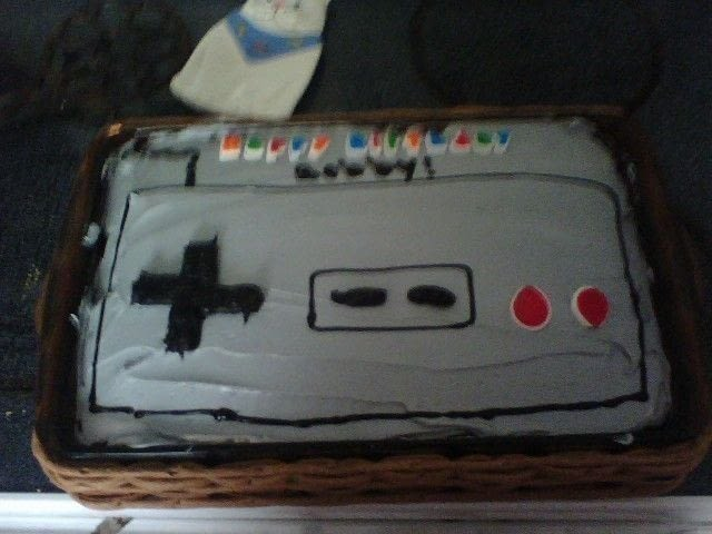 Nintendo Cake  A Computer Game Cake  Decorating on Cut Out  Keep