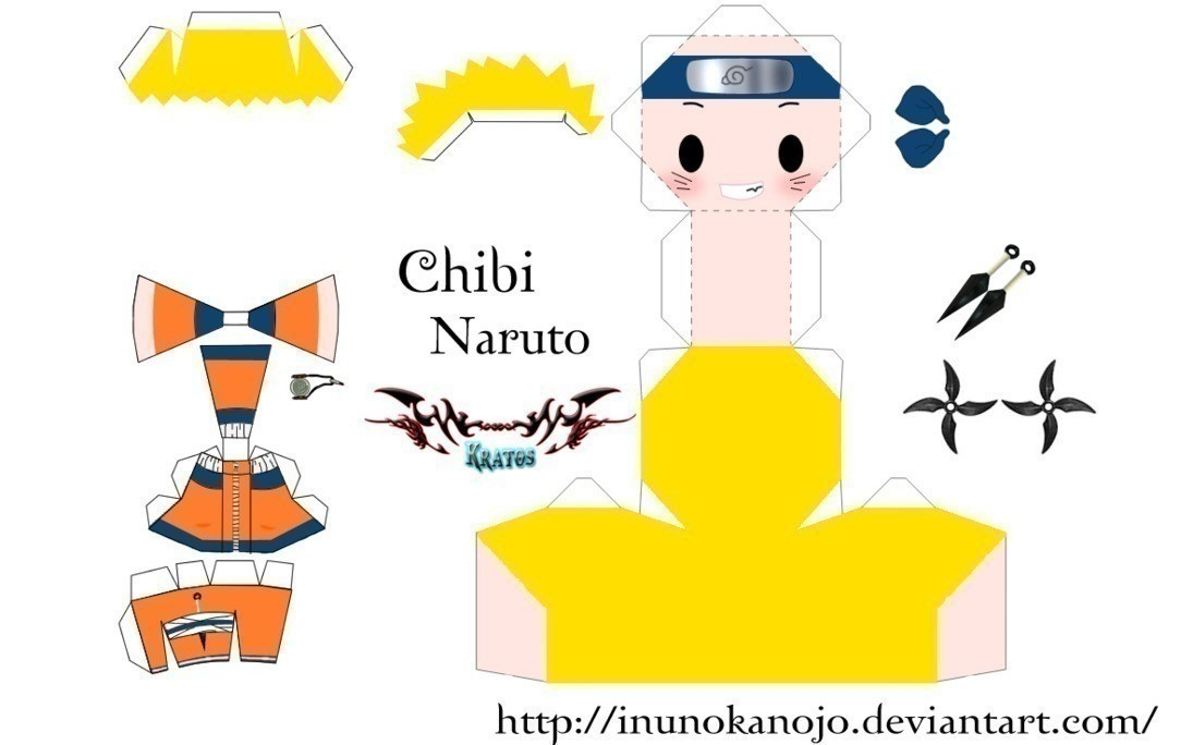 Characters Paper Fold Print And