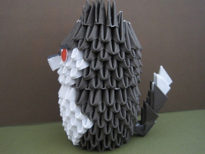 3 D Origami Husky Puppy Wolf  An Origami Dog  Paper