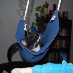 Cat Hammock Under Chair Nursing Chairs Uk  How To Make A Pet Bed Needlework On Cut