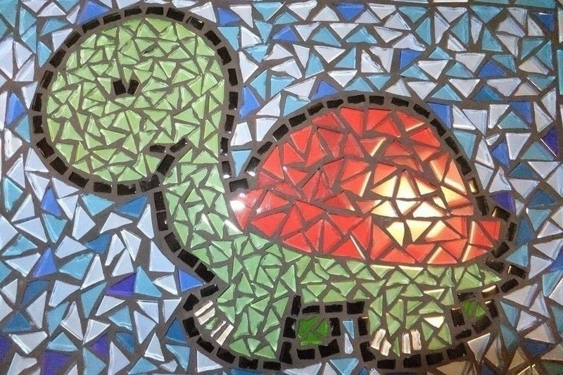 Mosaic Turtle  A Piece Of Mosaic Art  Mosaic on Cut Out