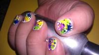 ~Splatter Paint Nail Design~  How To Paint A Splatter ...