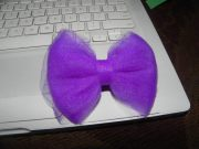 tulle hair bow knotting