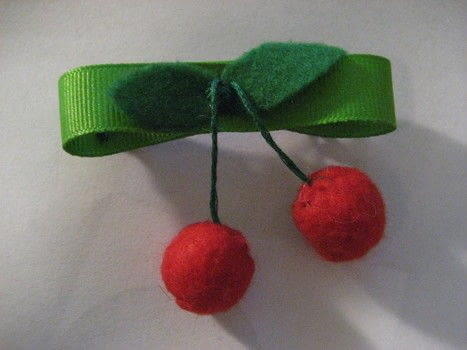 Completed Project: Felt Cherries Picture #1