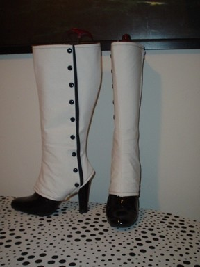 Knee High Victorian Spats Boot Covers  How To Make Boot