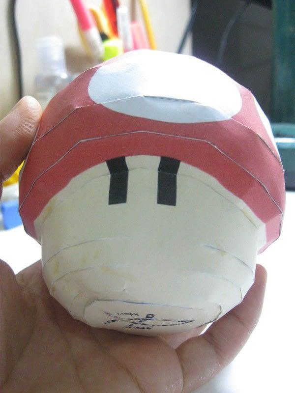 Mario Mushroom Papercraft 183 How To Make A Paper Model