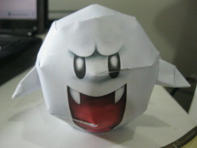 Super Mario Boo Papercraft 183 How To Make A Paper Model