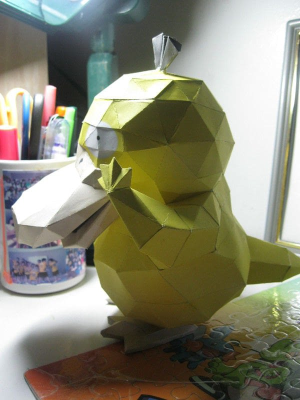 Pokemon Psyduck Papercraft 183 How To Make A Paper Model