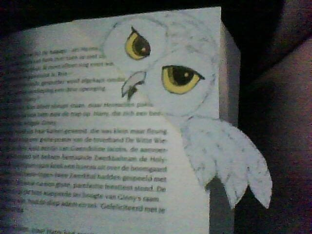 Hedwig Bookmark  How To Make A Corner Bookmark  Drawing