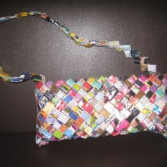 How To Make A Bean Bag Chair Out Of Old Clothes Antique High Converts Stroller Folded Magazine Purse  Recycled