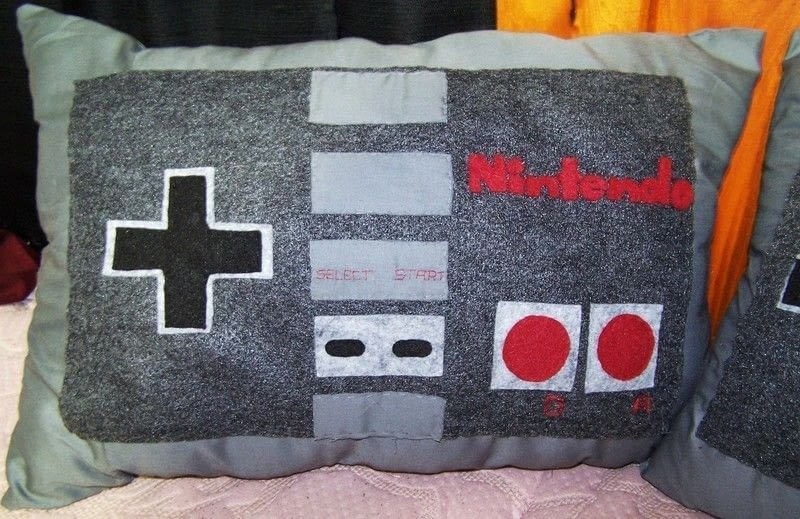 Nintendo Controller Pillows  An Applique Cushion  Needlework and Sewing on Cut Out  Keep