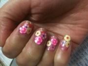 cute flower nails paint