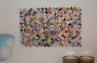 Recycled Magazine Wall Art  A Hanging  Version by Ivana H.