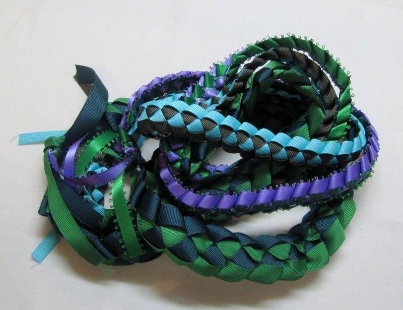 Hawaiian Ribbon Lei  How To Braid A Necklace