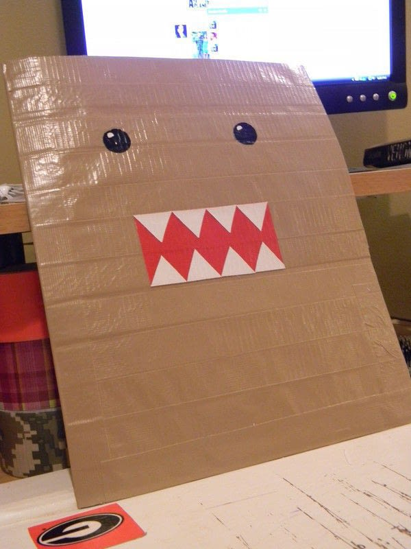 Duct Tape Domo Folder  How To Make A Binder Folder  Art and Decorating on Cut Out  Keep