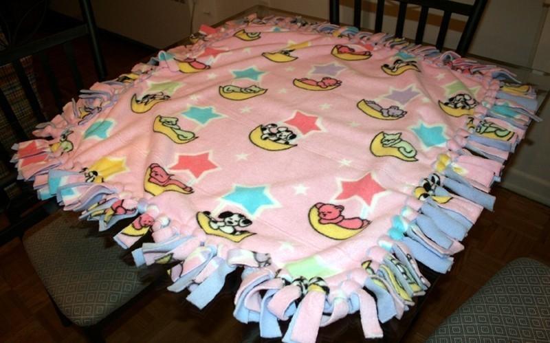 No Sew Fringe Fleece Blanket  A Fleece Blanket  Sewing