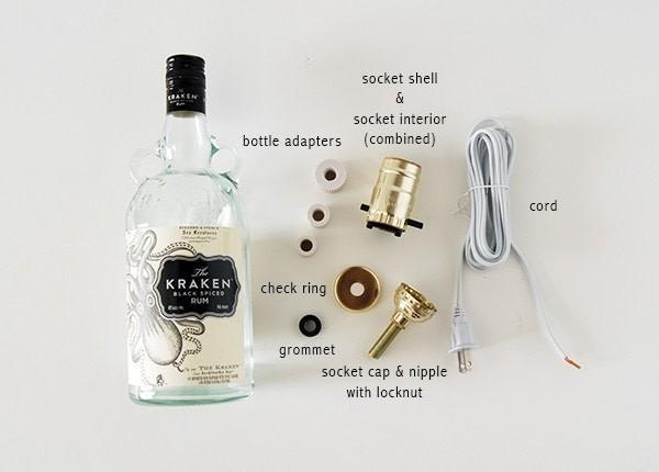 Diy Liquor Bottle Lamp  How To Make A Bottle Lamp  Home