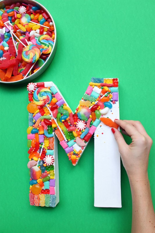 Candy Yum Sign  How To Make A Letter  Home  DIY on Cut
