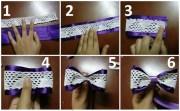 diy hair bows 2 ribbons