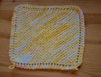 Super Easy Knit Potholder  How To Make A Pot Holder / Pot ...