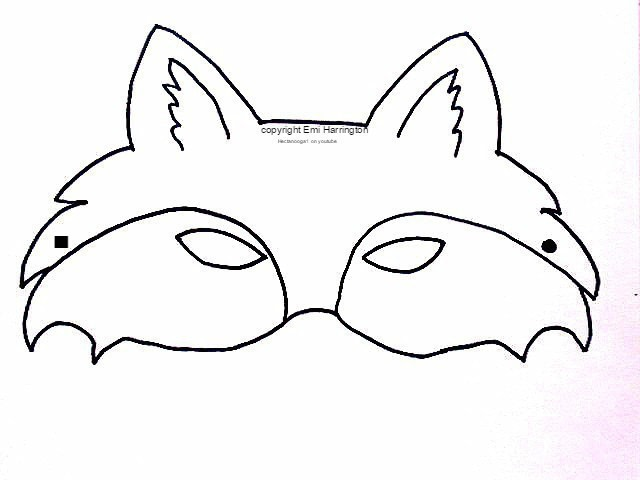 Free Printable, Fox Mask · How To Draw & Paint A Piece Of