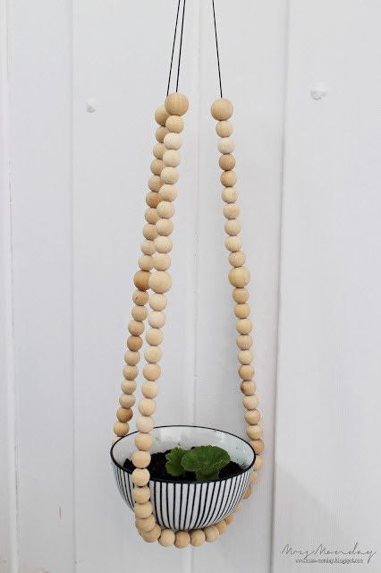 Diy Beaded Plant Hanger How To Make A Hanging Planter