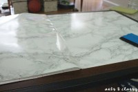 Diy Faux Marble Coffee Table Makeover Tutorial  How To ...