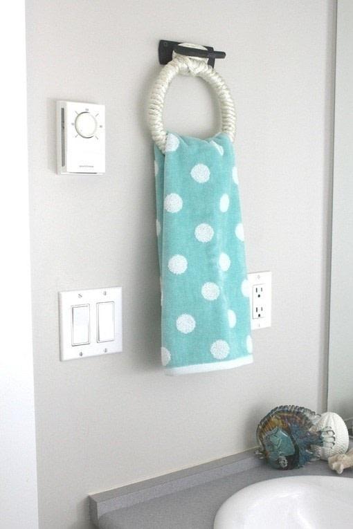 Nautical Hand Towel Holder  How To Make A Bathroom