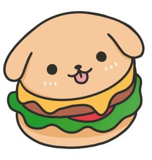 draw kawaii really hamburgers step drawing hamburger burger animals animal steps face simple nguyen extract angela press bun pencil