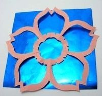 How to make an origami flower. Kirigami Sakura - Step 11